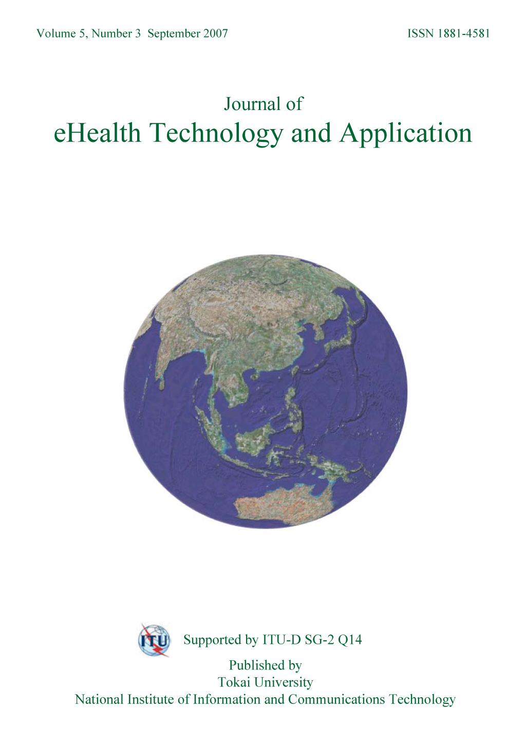 Journal of eHealth Technology and Application 2007